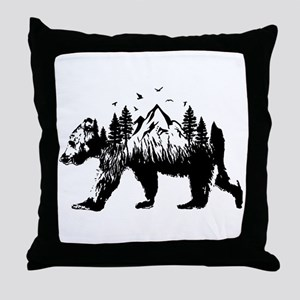 Bear Woods Throw Pillow